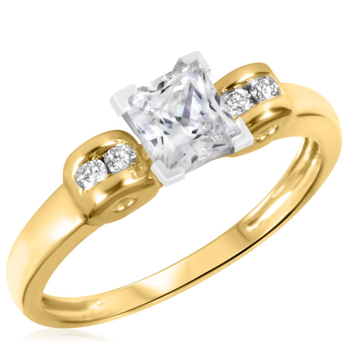 1 1/10 CT. T.W. Diamond Ladies Engagement Ring 14K Yellow Gold- Size 8