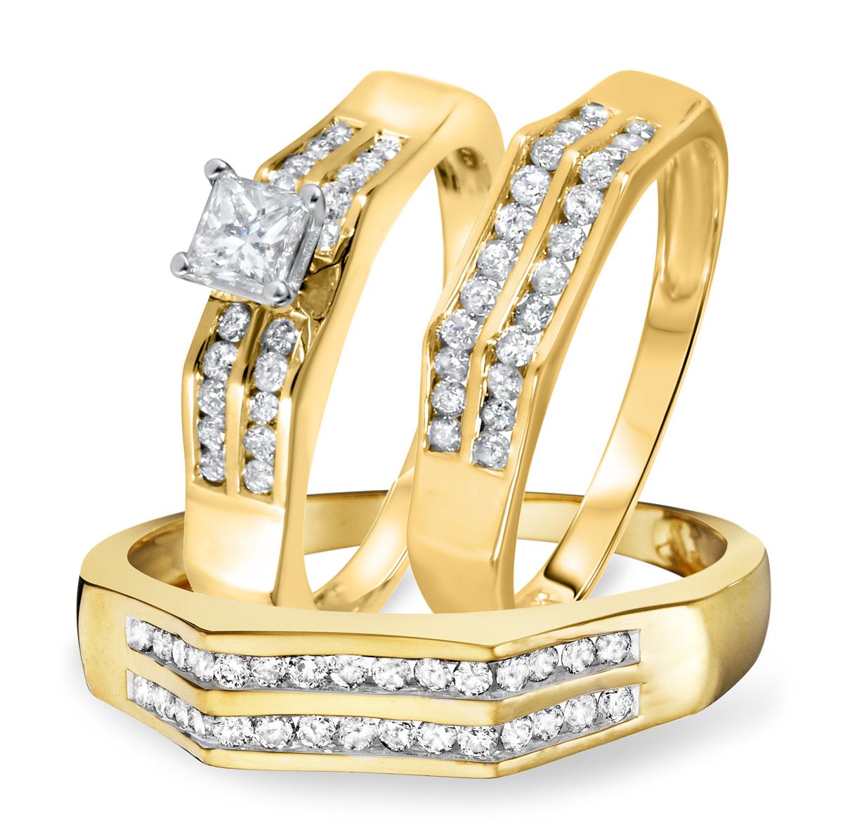 1 1/10 CT. T.W. Diamond Ladies Engagement Ring, Wedding Band, Men
