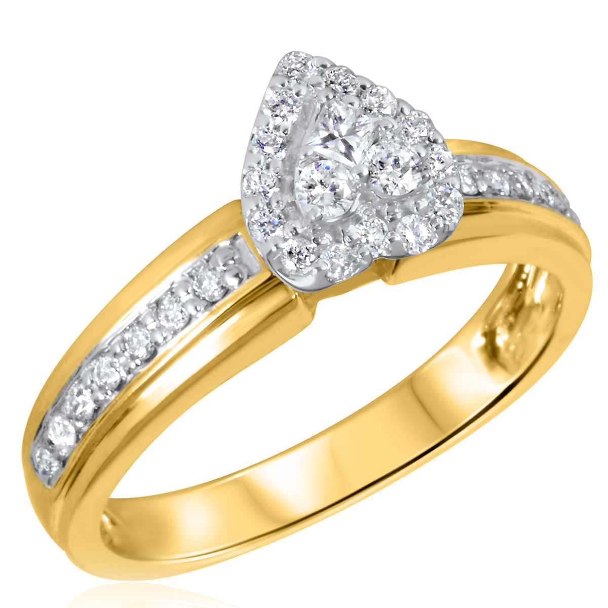 3/8 CT. T.W. Diamond Ladies Engagement Ring 14K Yellow Gold- Size 8