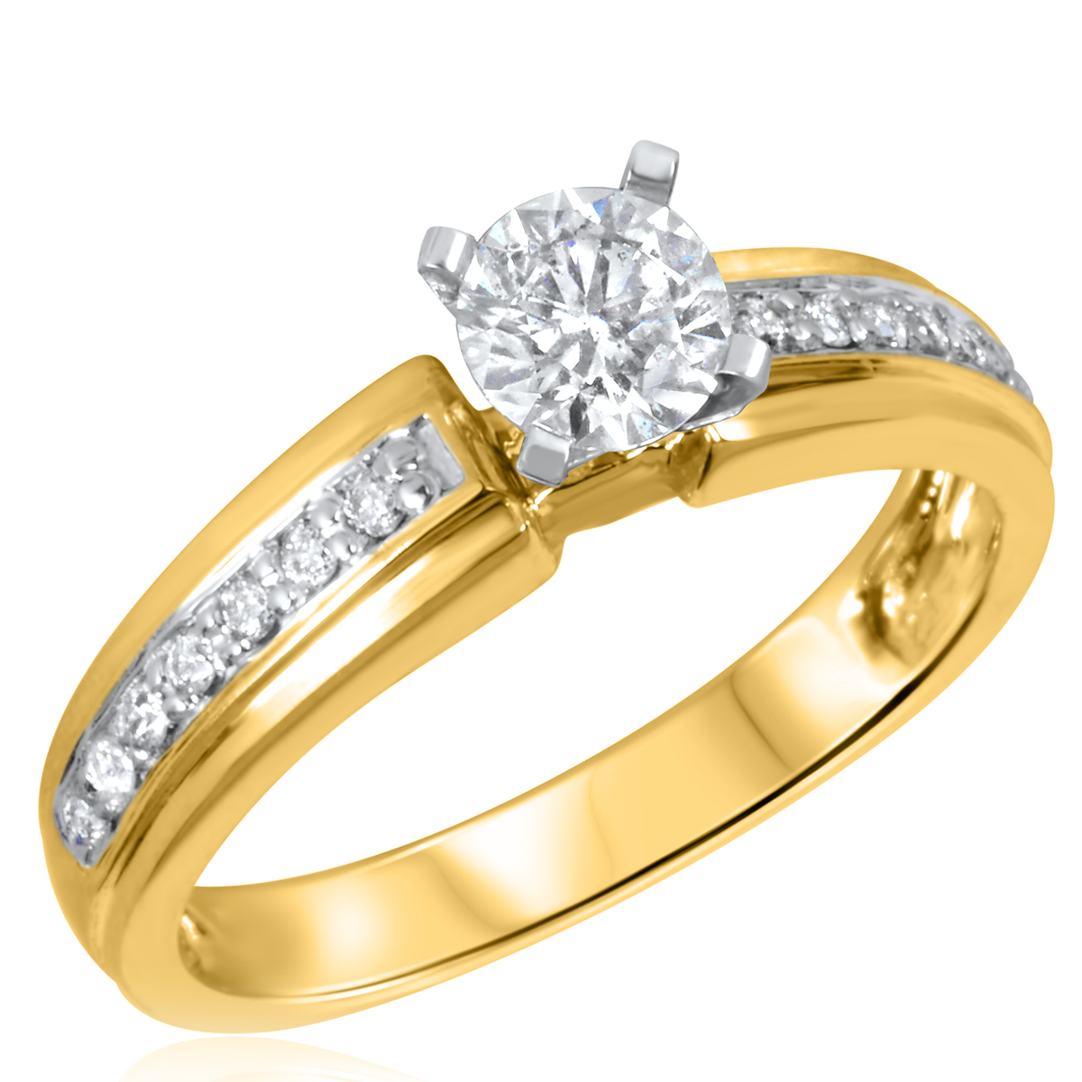 2/3 CT. T.W. Diamond Ladies Engagement Ring 14K Yellow Gold- Size 8