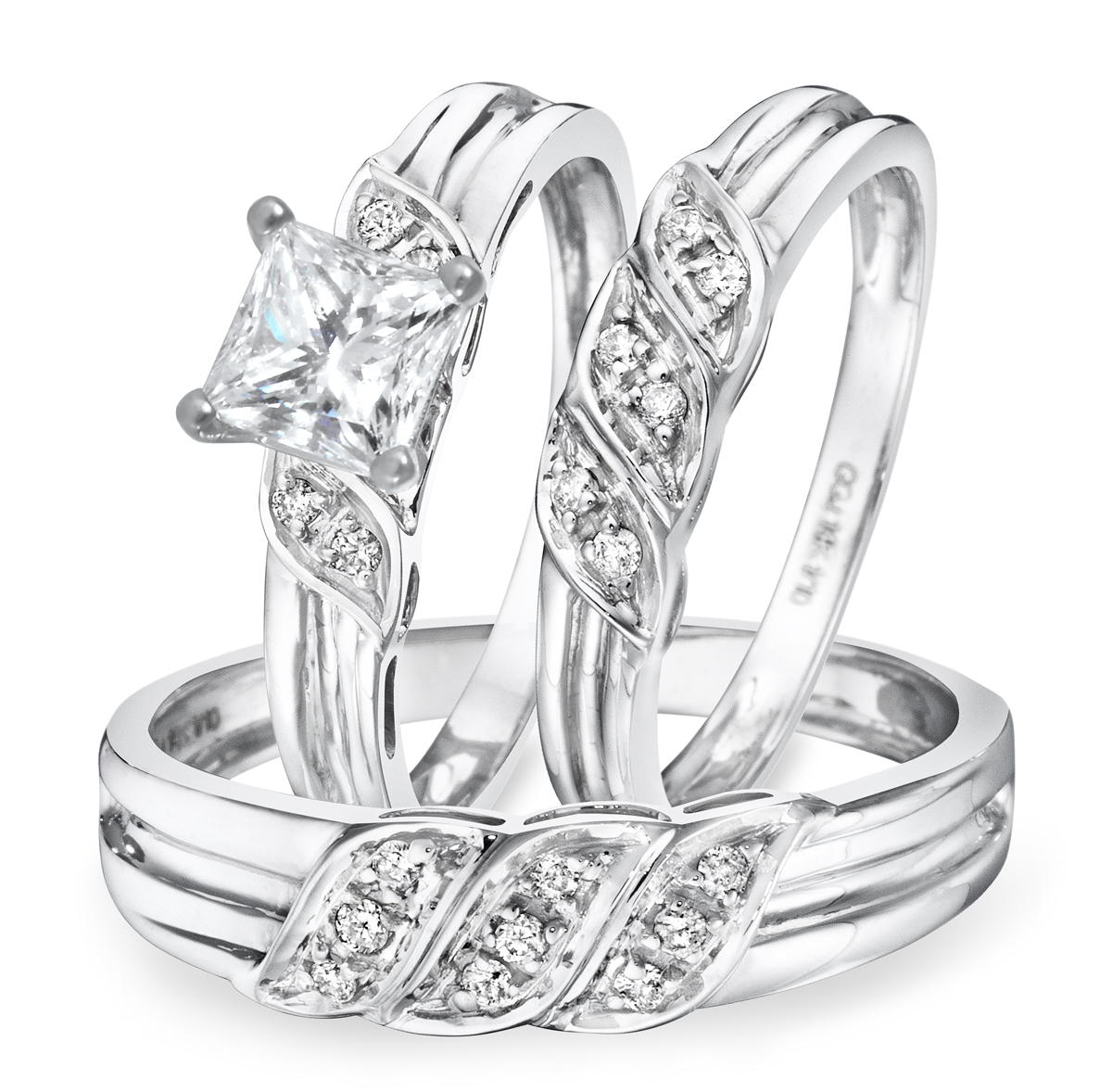 Buy Trio Wedding Rings Set Online Cheap Trio Wedding Rings Set