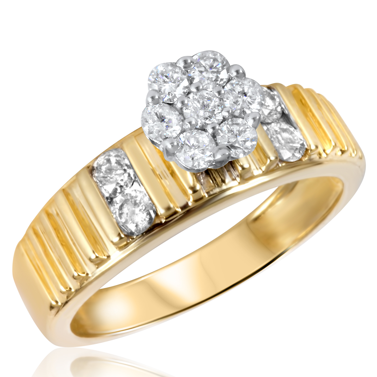 5/8 CT. T.W. Diamond Ladies Engagement Ring 14K Yellow Gold- Size 8