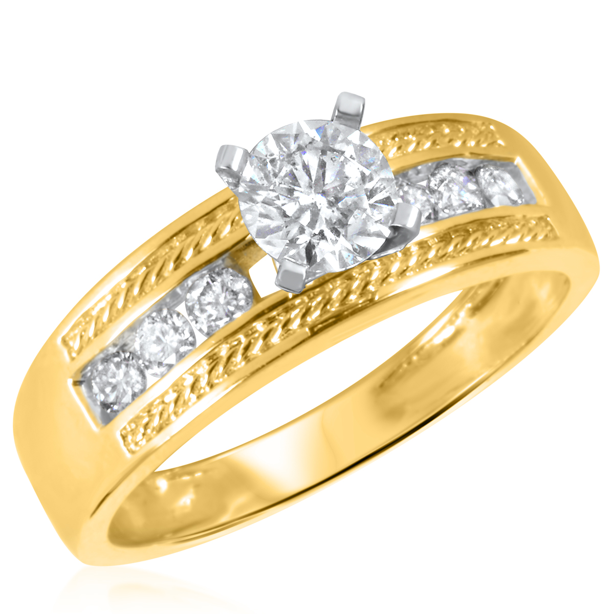 3/4 CT. T.W. Diamond Ladies Engagement Ring 10K Yellow Gold- Size 8