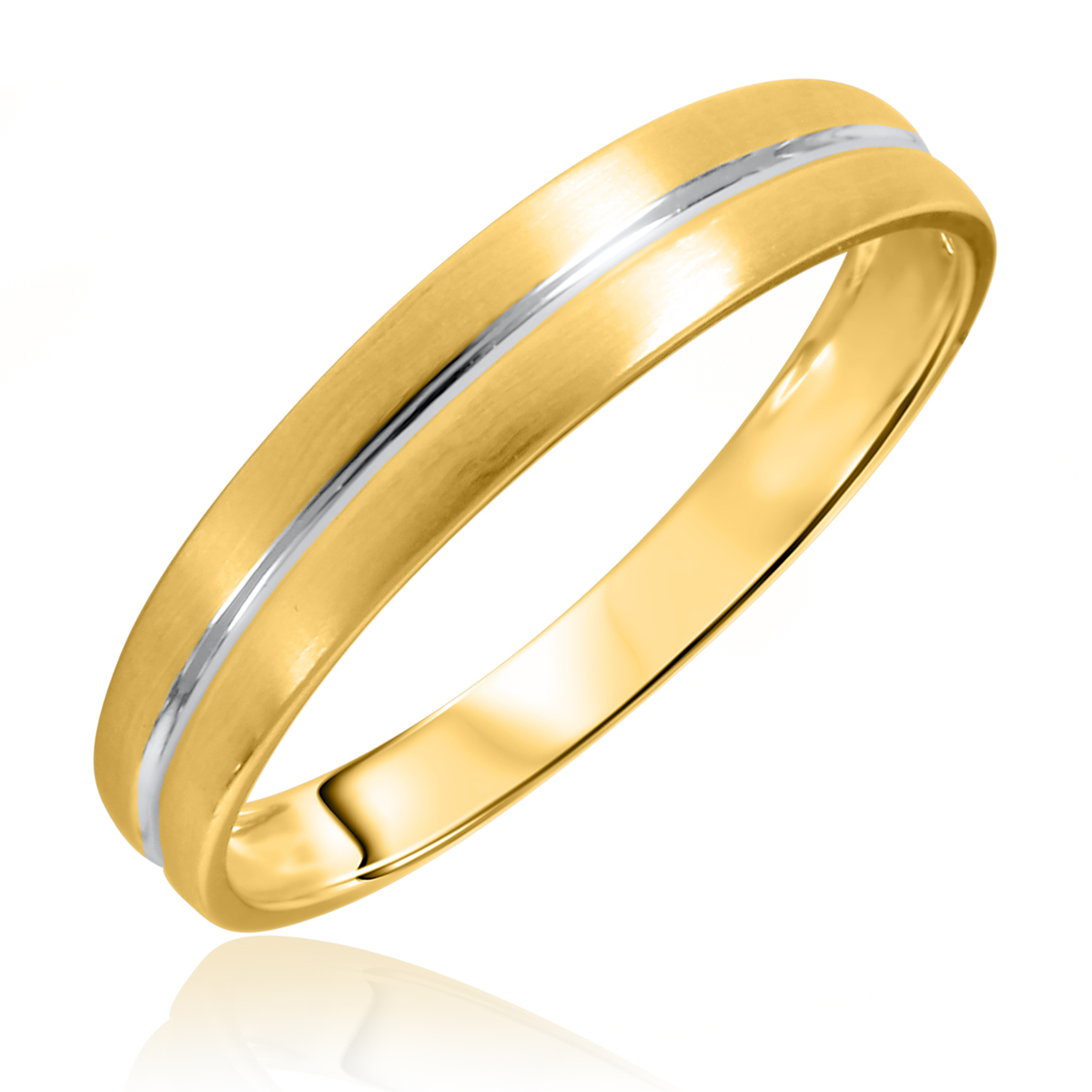 Traditional No Diamond, 4.5 millimeter, 14K Yellow Gold Traditional Mens Wedding