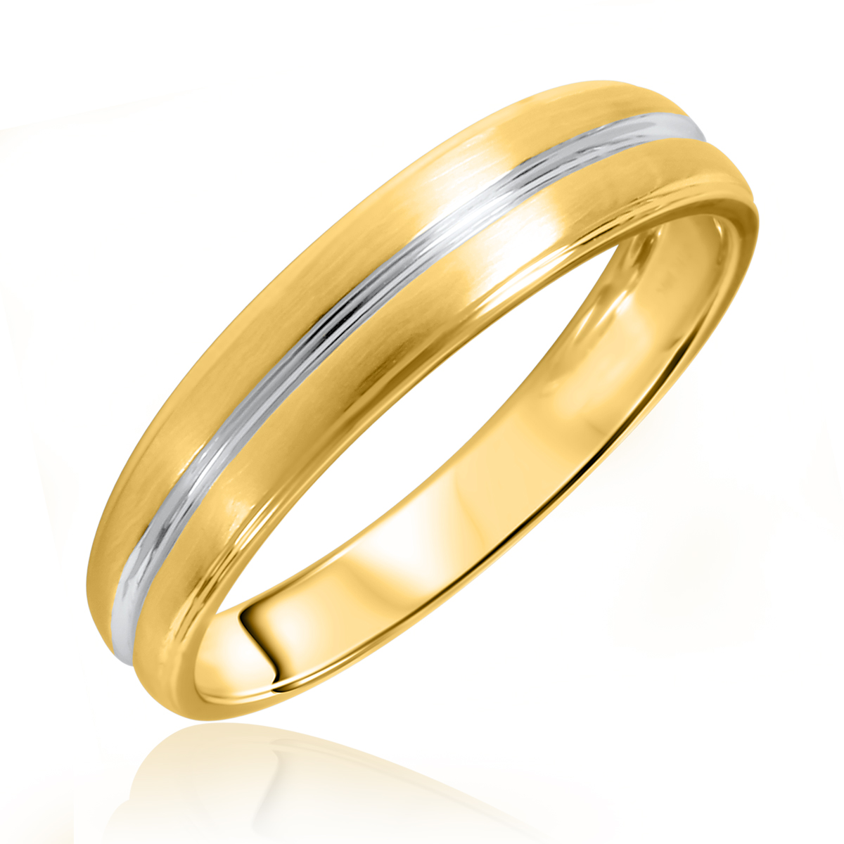 Traditional No Diamond, 5 millimeter, 14K Yellow Gold Men's Wedding Band- Size 8