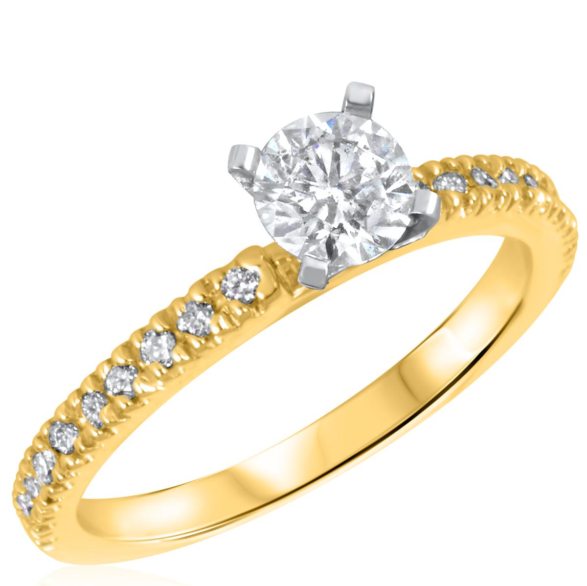 3/4 CT. T.W. Diamond Ladies Engagement Ring 10K Yellow Gold- Size 8
