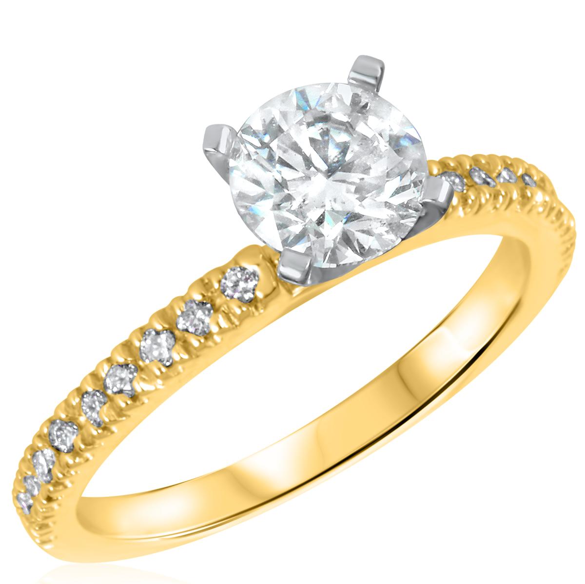 1 1/5 CT. T.W. Diamond Ladies Engagement Ring 14K Yellow Gold- Size 8