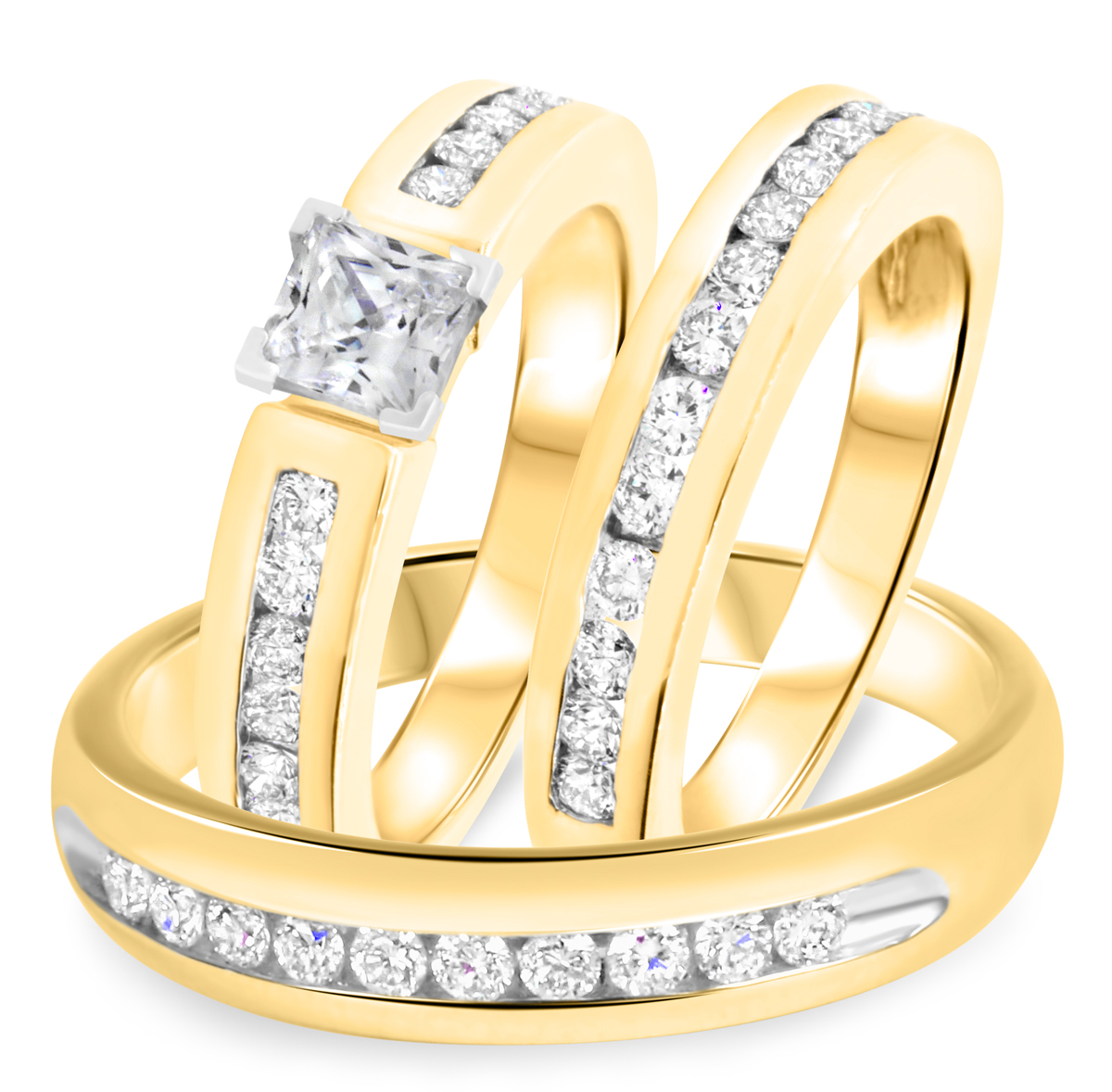 1 7/8 CT. T.W. Diamond Ladies Engagement Ring, Wedding Band, Men's Wedding Band