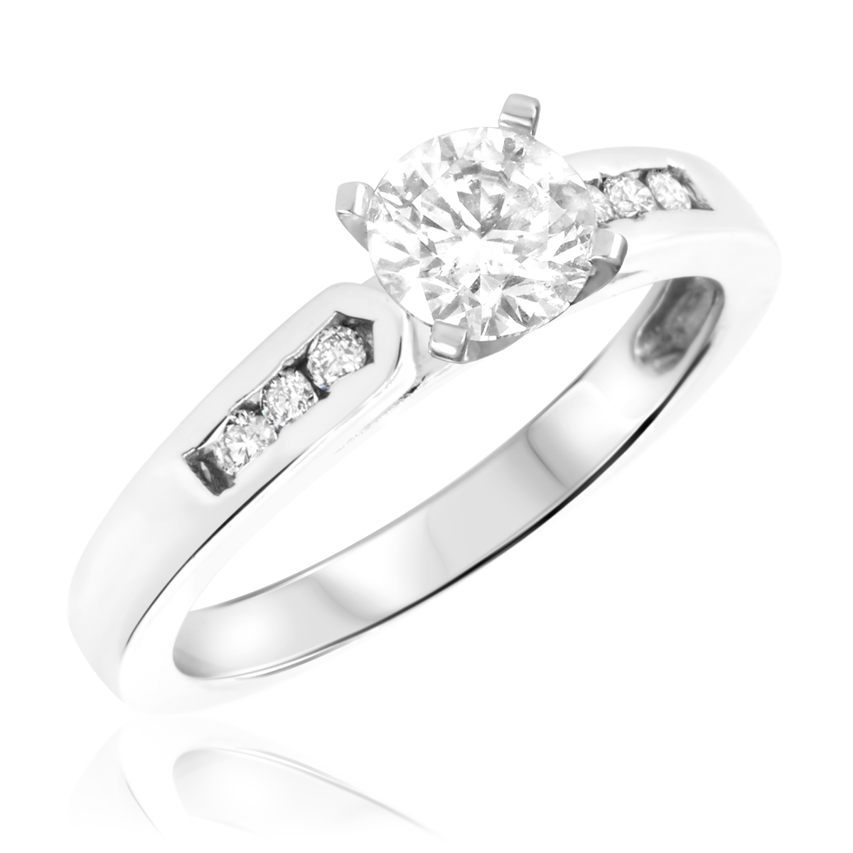 1 1/4 CT. T.W. Diamond Ladies Engagement Ring 14K White Gold- Size 8