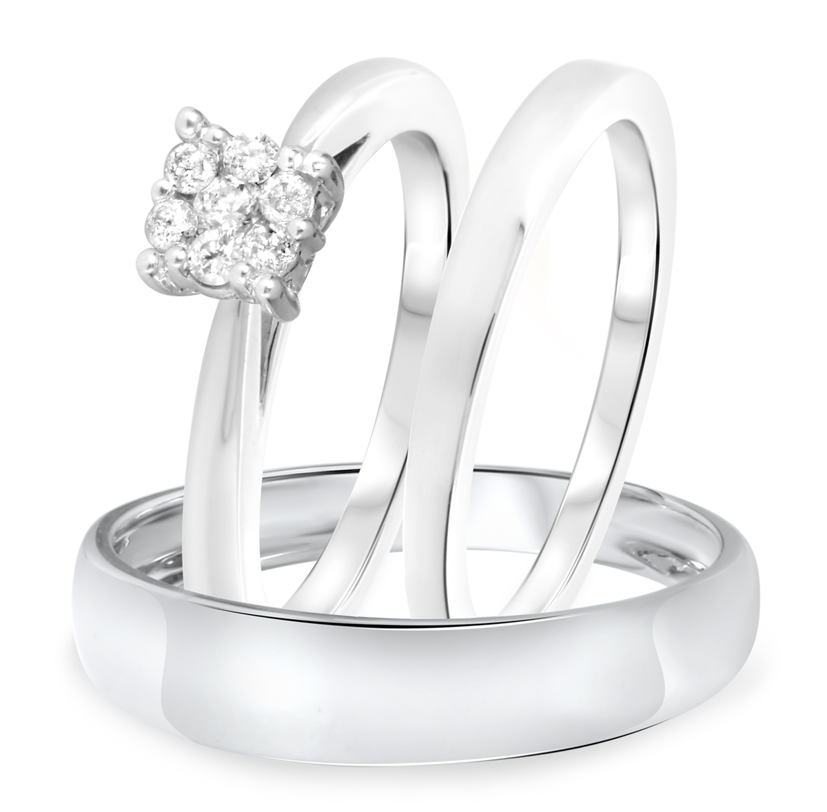 1/5 CT. T.W. Diamond Ladies Engagement Ring, Wedding Band, Men's Wedding Band