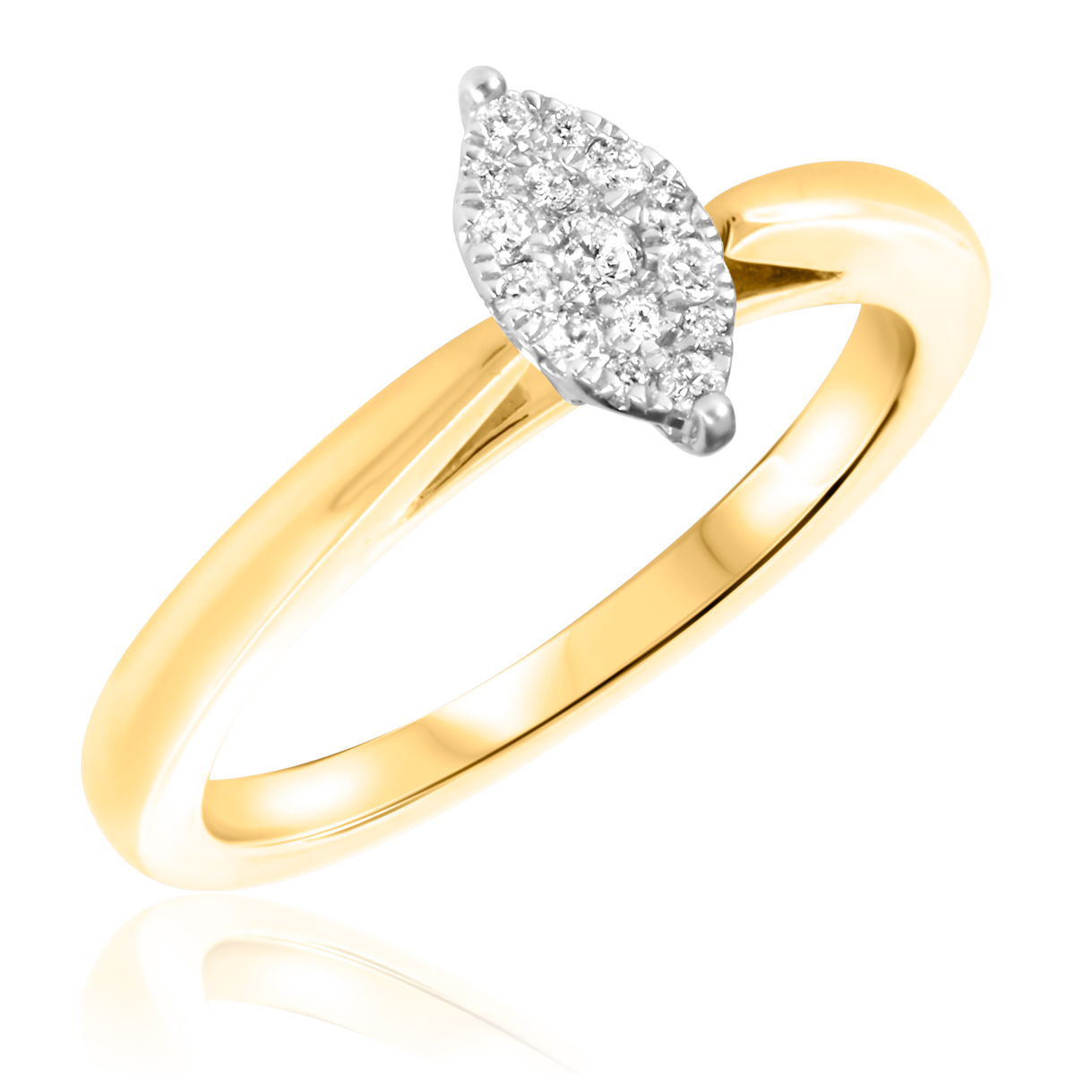 1/5 CT. T.W. Diamond Ladies Engagement Ring 14K Yellow Gold- Size 8