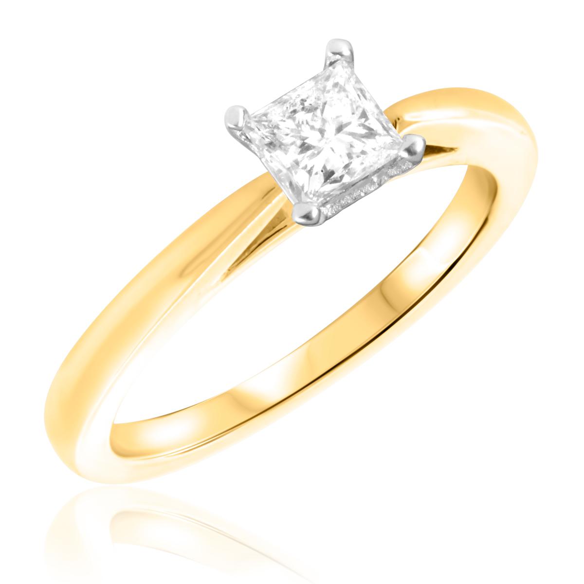3/4 CT. T.W. Diamond Ladies Engagement Ring 14K Yellow Gold- Size 8