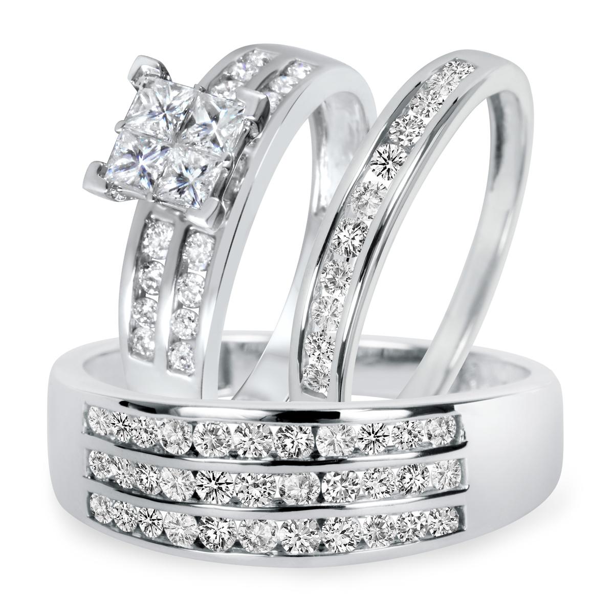 1 3/4 CT. T.W. Diamond Ladies Engagement Ring, Wedding Band, Men's Wedding Band