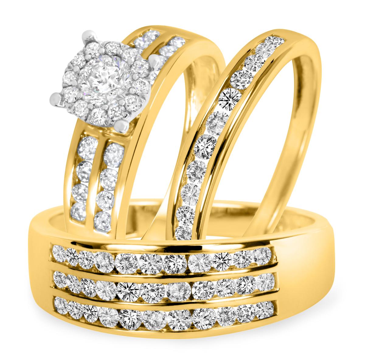 1 5/8 CT. T.W. Diamond Ladies Engagement Ring, Wedding Band, Men's Wedding Band