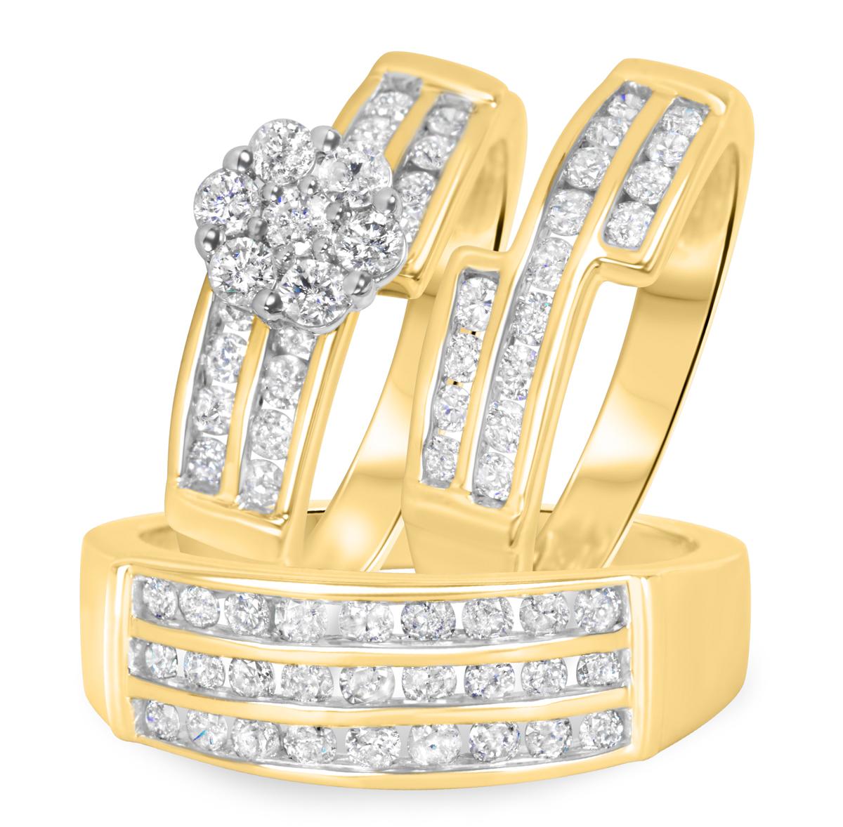 1 3/4 Carat T.W. Round Cut Diamond Women's Engagement Ring, Ladies Wedding Band,