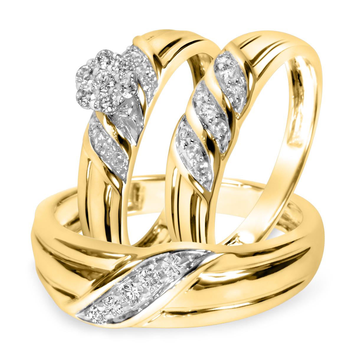 3/8 Carat T.W. Round Cut Diamond Women's Engagement Ring, Ladies Wedding Band,