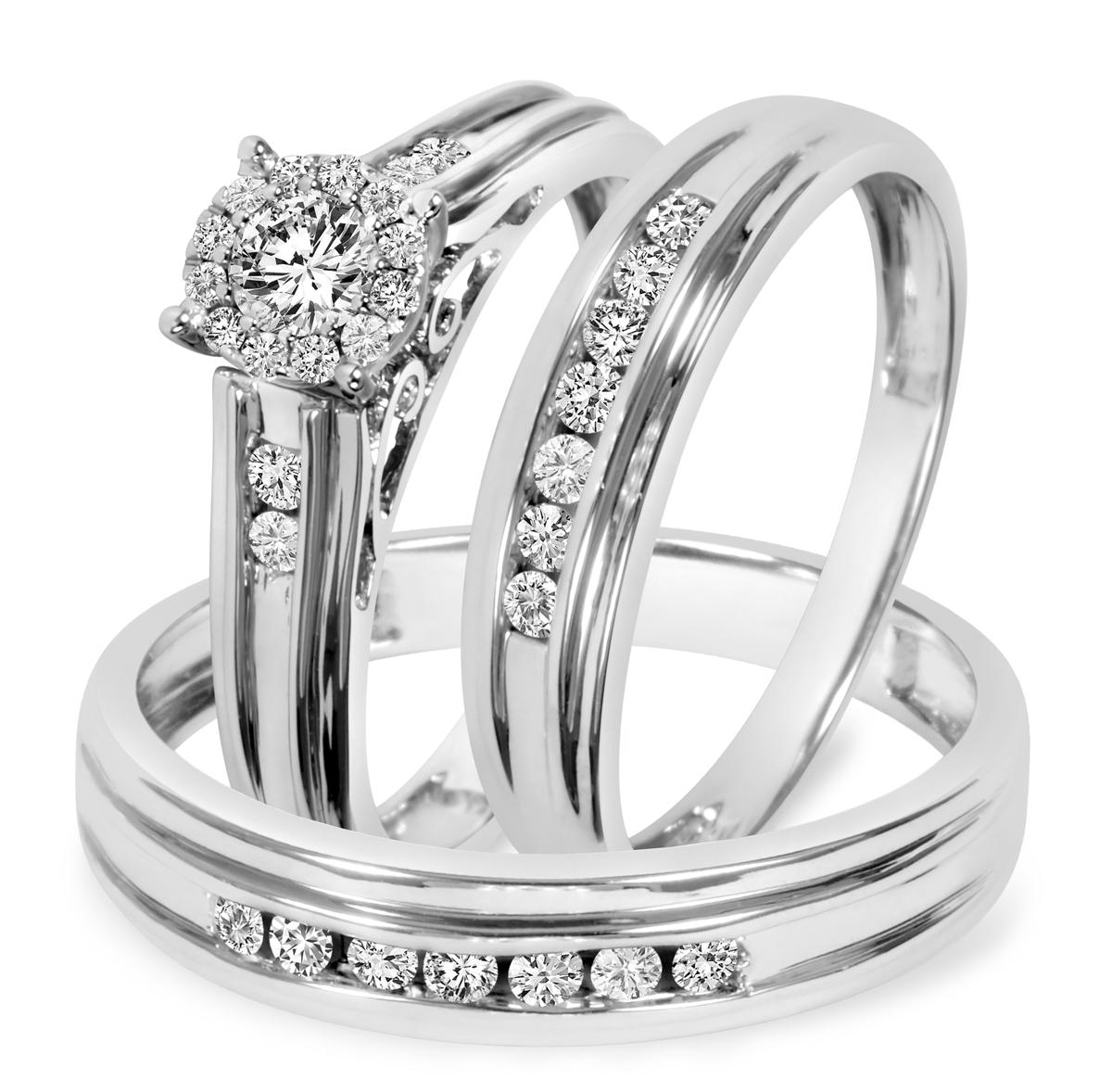 3/4 Carat T.W. Round Cut Diamond Women's Engagement Ring, Ladies Wedding Band,