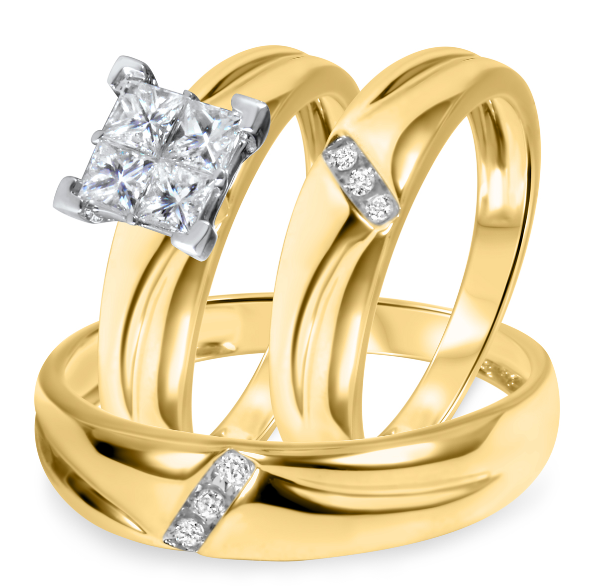 5/8 CT. T.W. Diamond Ladies Engagement Ring, Wedding Band, Men's Wedding Band
