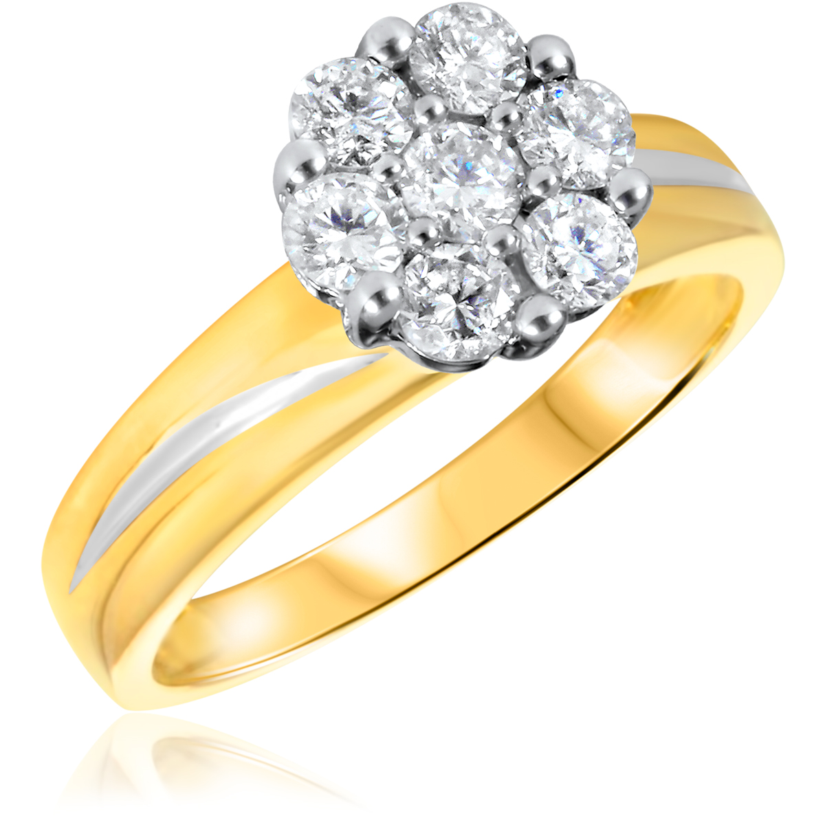 2/3 CT. T.W. Diamond Ladies Engagement Ring 14K Yellow Gold- Size 8