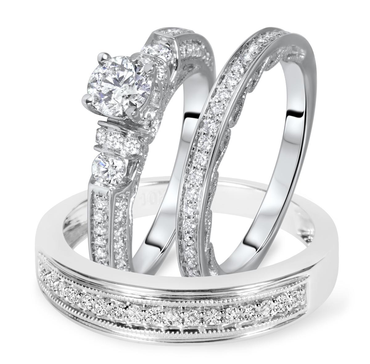 1 1/2 Carat T.W. Round Cut Diamond Women's Engagement Ring, Ladies Wedding Band,
