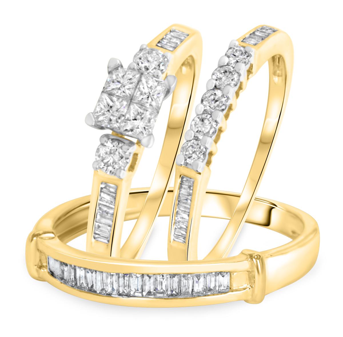 1 1/8 Carat T.W. Round Cut Diamond Women's Engagement Ring, Ladies Wedding Band,