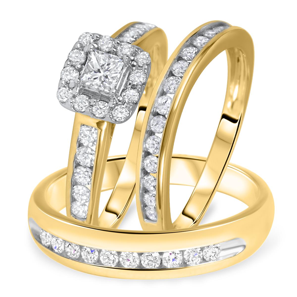 1 1/5 Carat T.W. Solitaire,Princess, Round Cut Diamond Women's Engagement Ring,