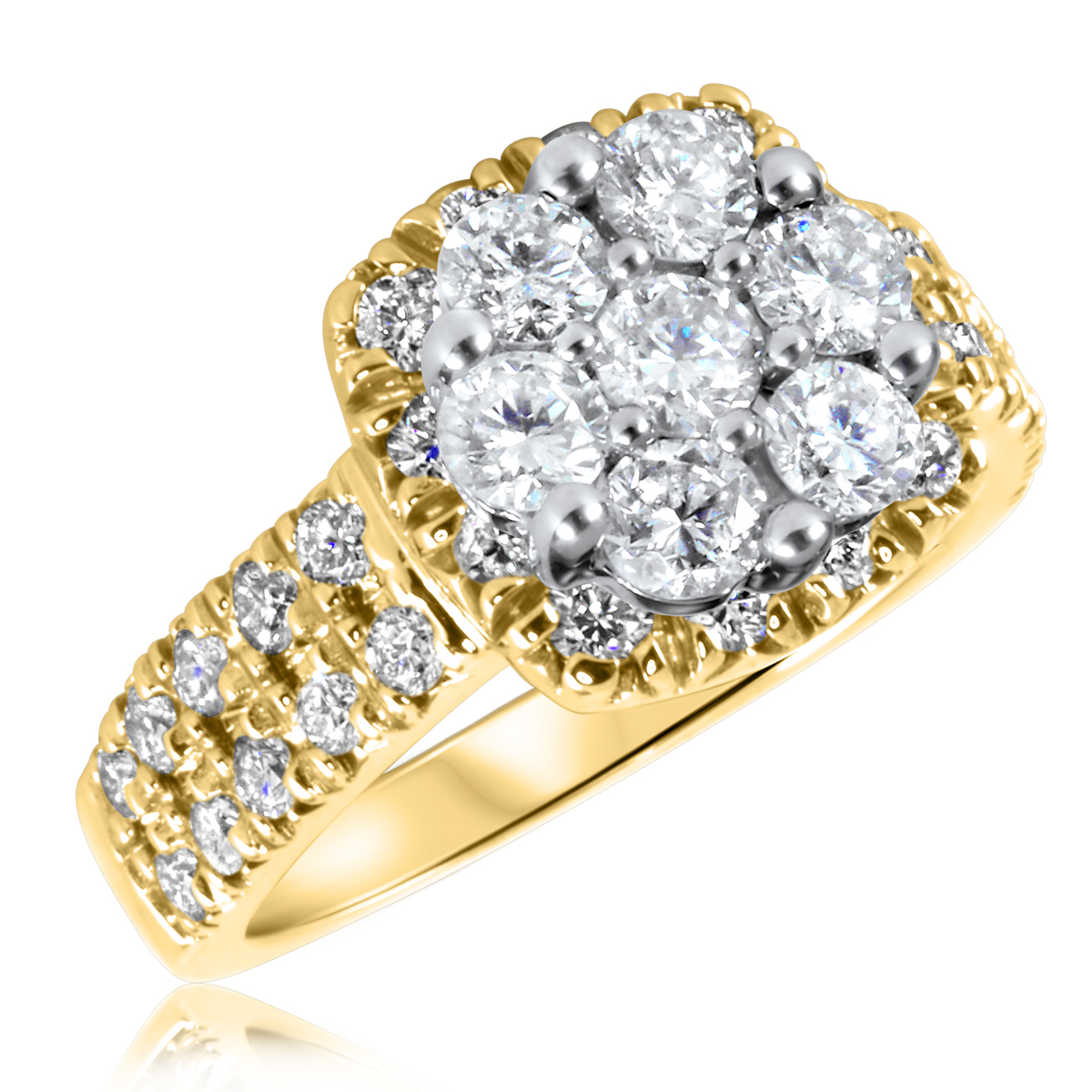 1 3/4 CT. T.W. Diamond Ladies Engagement Ring 14K Yellow Gold- Size 8