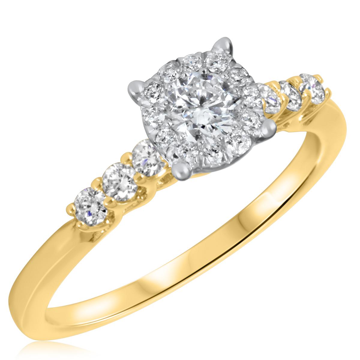 5/8 CT. T.W. Diamond Ladies Engagement Ring 14K Yellow Gold- Size 8