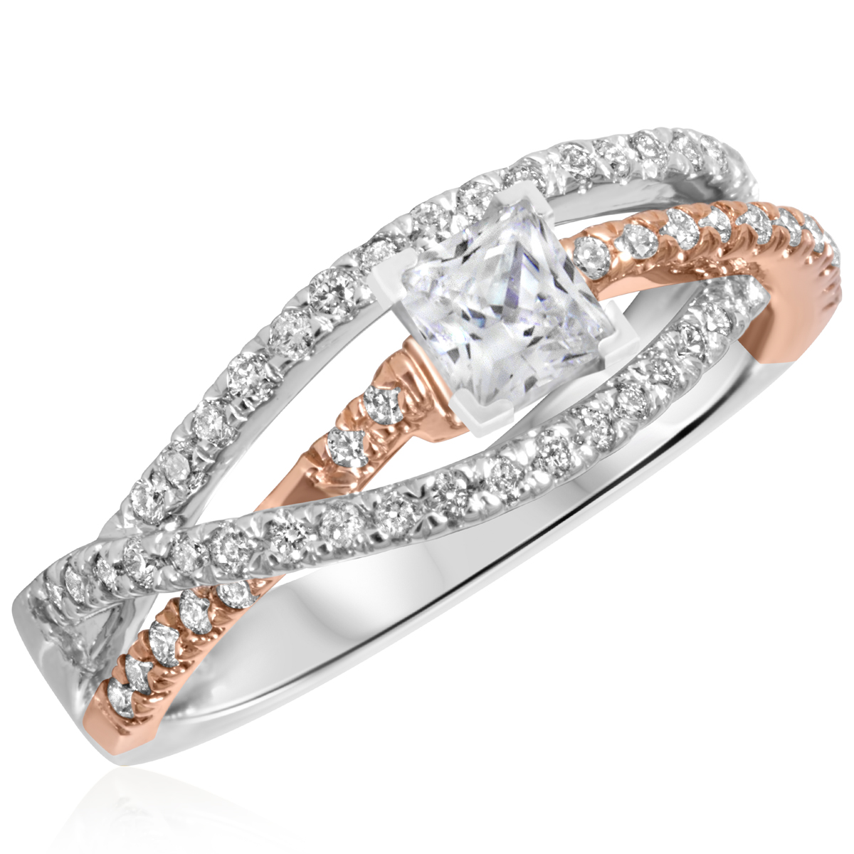 5/8 CT. T.W. Diamond Ladies Engagement Ring 14K White Gold- Size 8