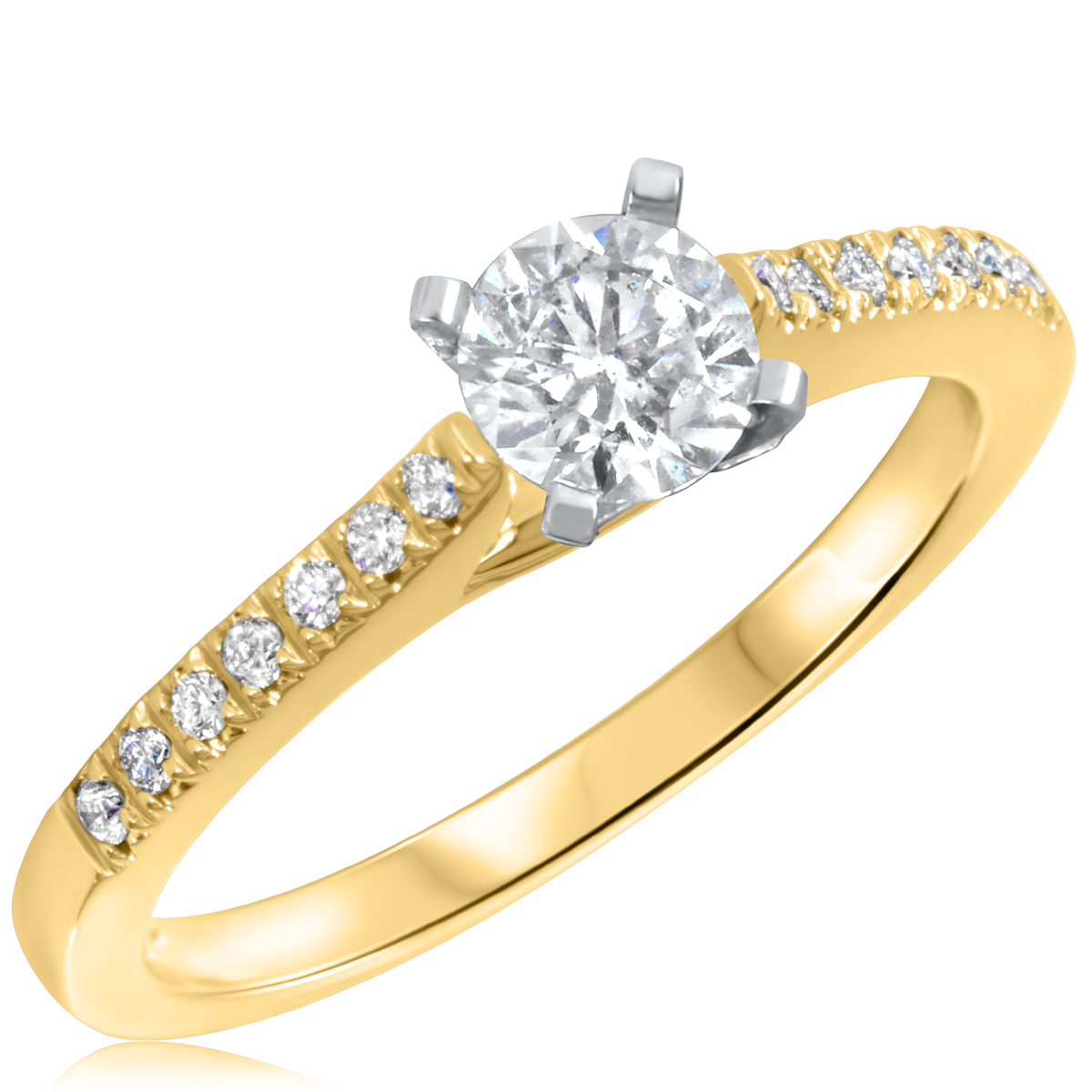 5/8 CT. T.W. Diamond Ladies Engagement Ring 10K Yellow Gold- Size 8