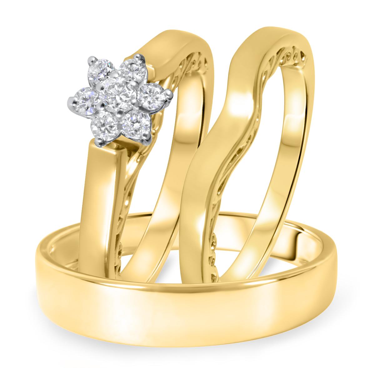 1/4 CT. T.W. Diamond Ladies Engagement Ring, Wedding Band, Men's Wedding Band