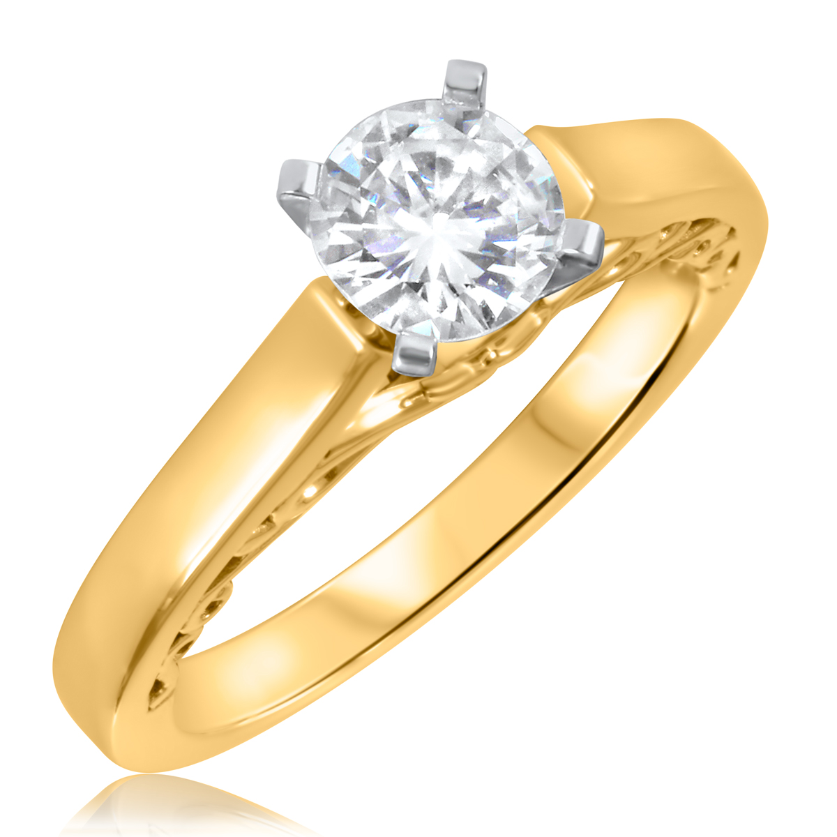 3/4 CT. T.W. Diamond Ladies Engagement Ring 14K Yellow Gold- Size 8