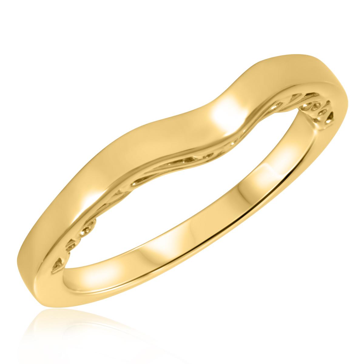 Diamond Ladies Wedding Band 10K Yellow Gold- Size 8