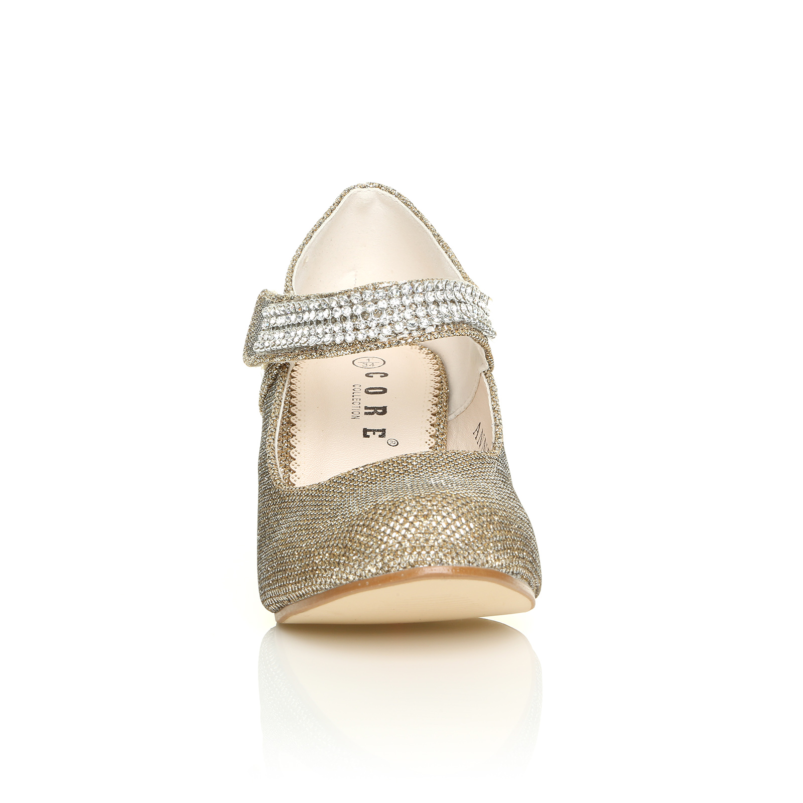 GIRLS-KIDS-CHILDRENS-LOW-HEEL-PARTY-WEDDING-DIAMANTE-STYLE-SANDALS-SHOES-SIZE