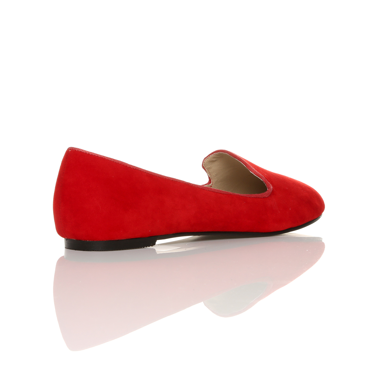NEW SLIP ON CASUAL FLAT SHOES LADIES GIRLS FAUX SUEDE BALLERINAS SIZE 3 - 8