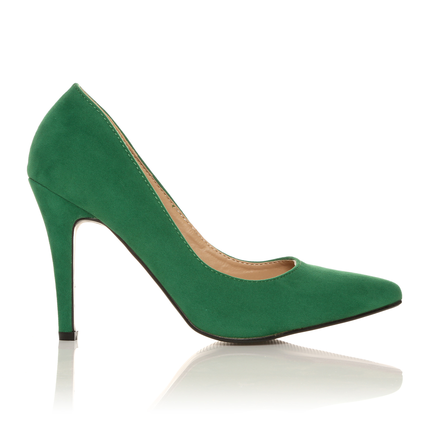darcy green faux suede stilleto high heel pointed court shoes ebay. Black Bedroom Furniture Sets. Home Design Ideas