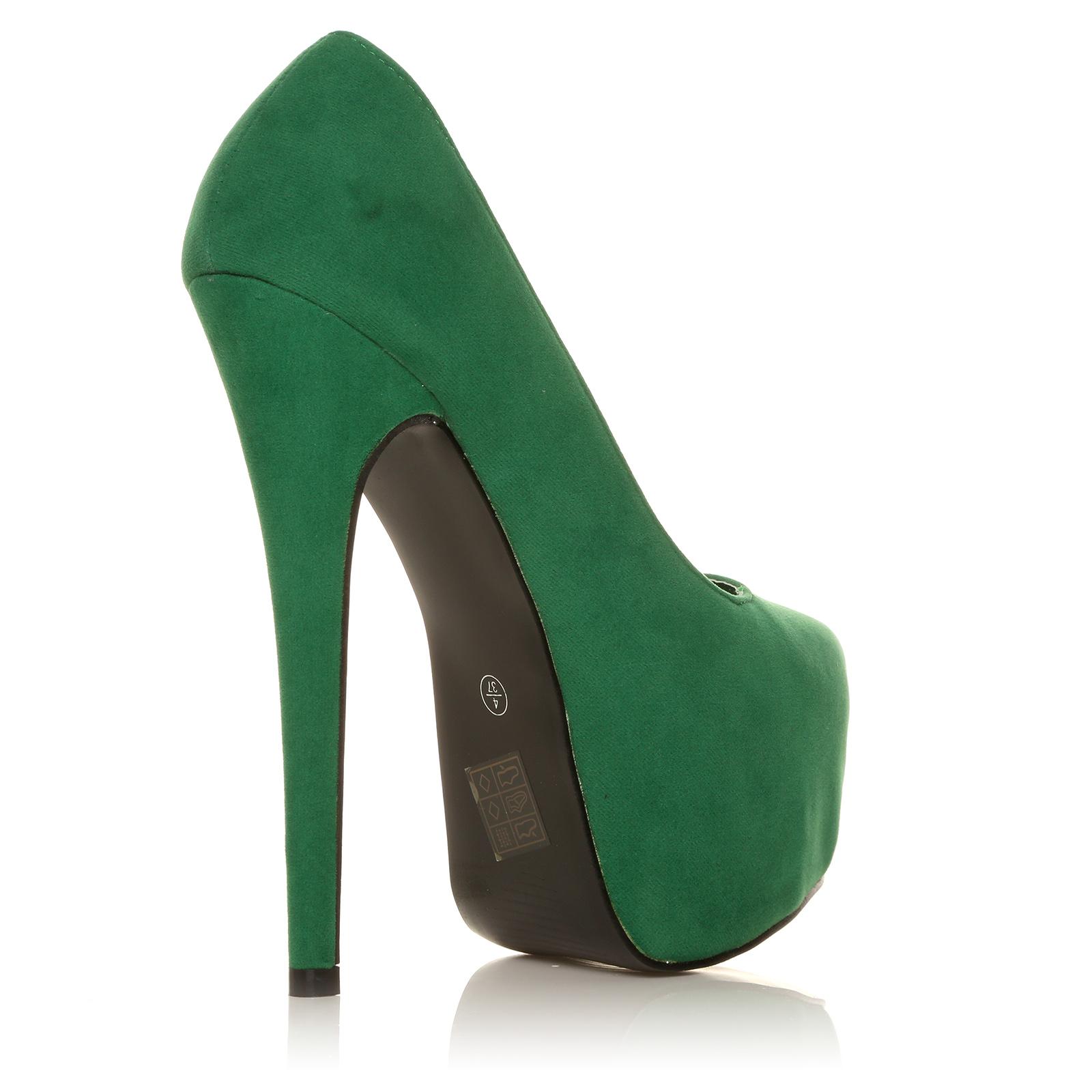 Faux Suede Womens Stilleto Shoes