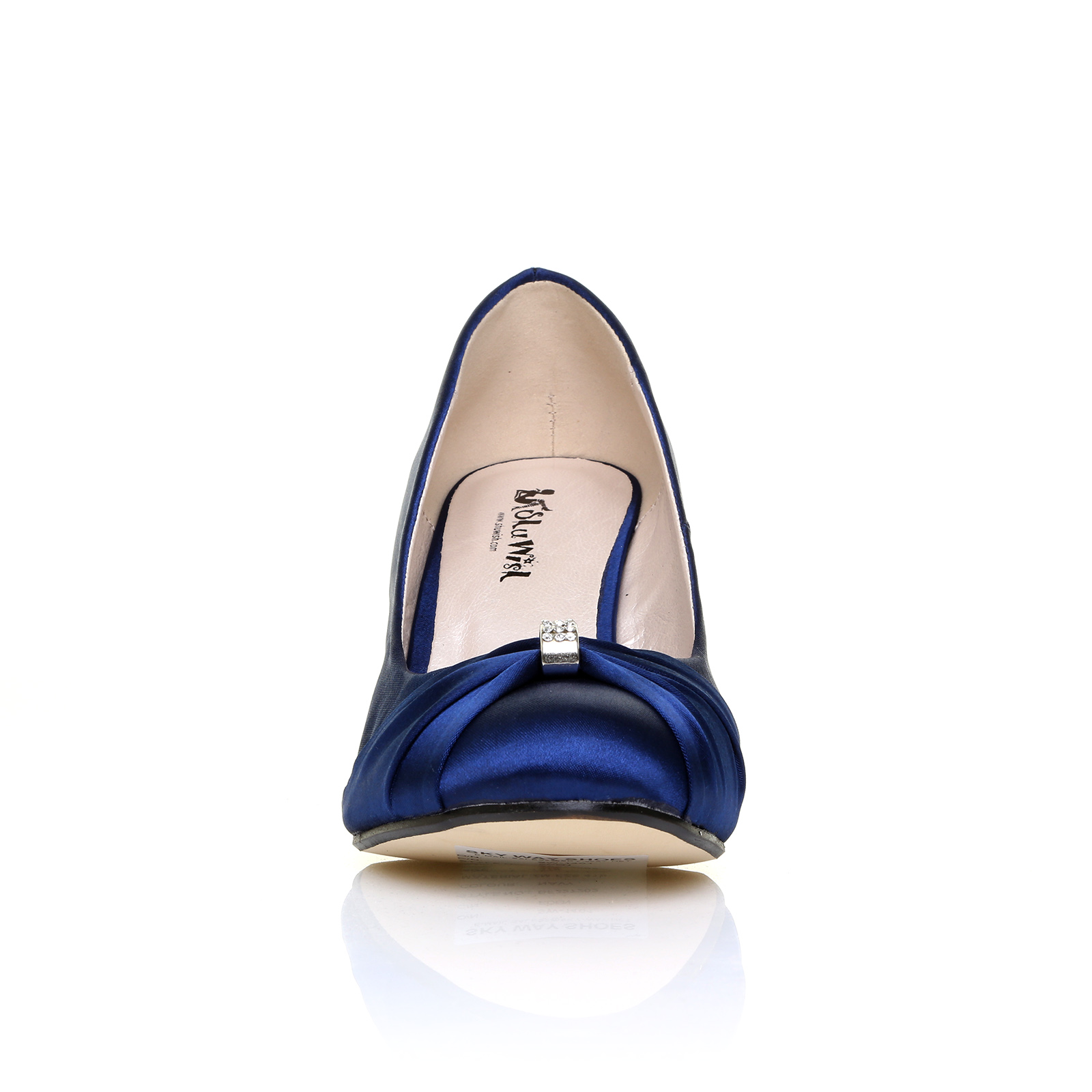 womens satin wedding shoes bridesmaid wedge heel