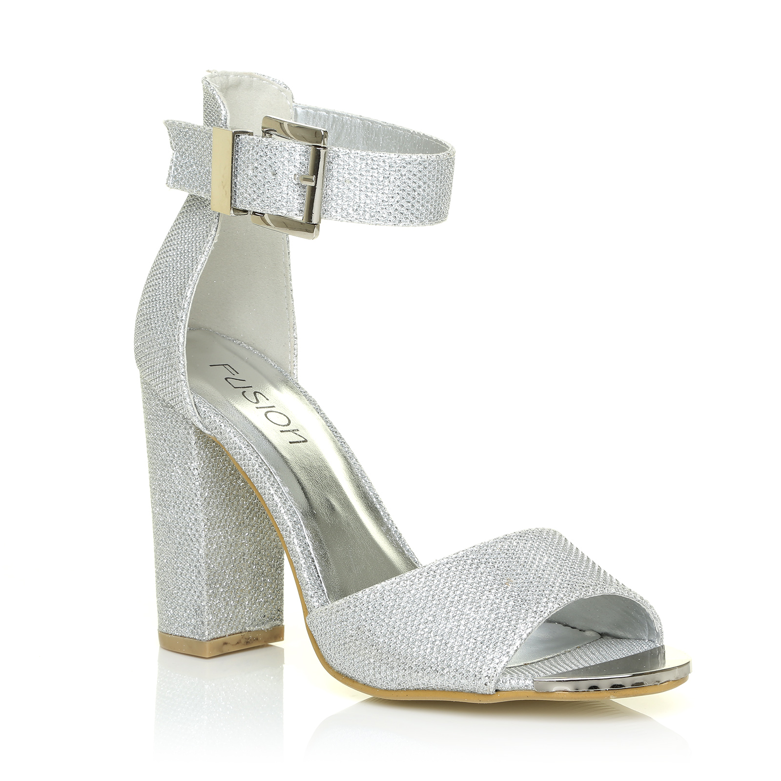 WHITE GOLD SILVER 70'S SEXY GLAM DANCING PARTY GLITTER HEELS ...