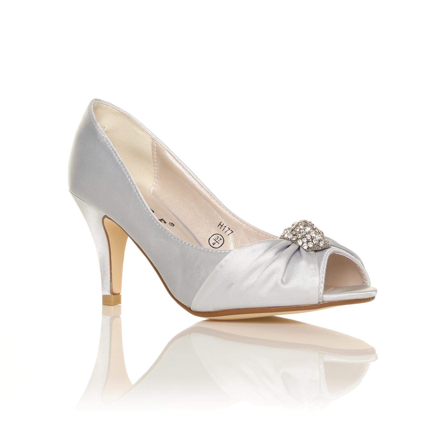 White Satin Bridesmaid Shoes