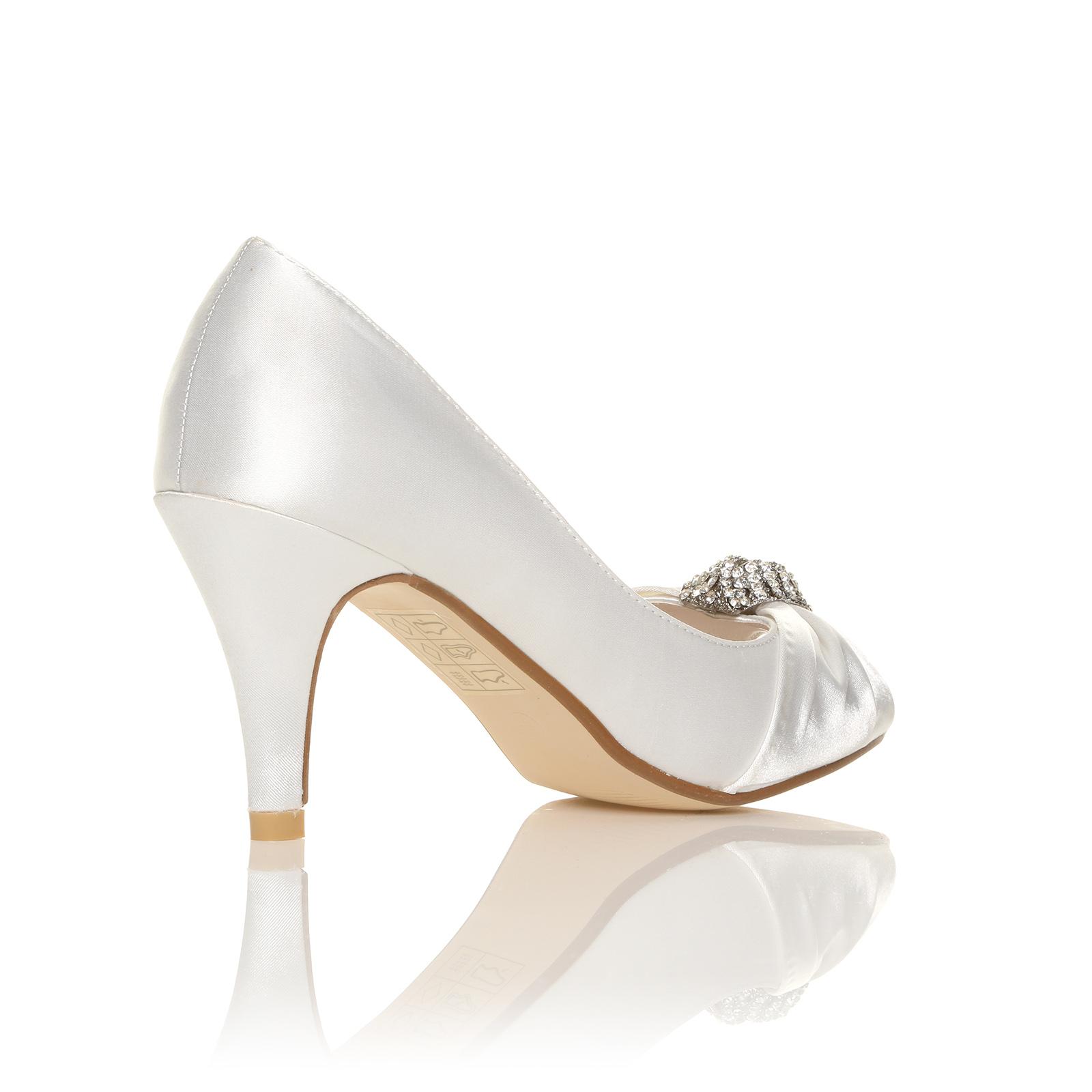 Ivory Wedding Shoes Low Heel Size