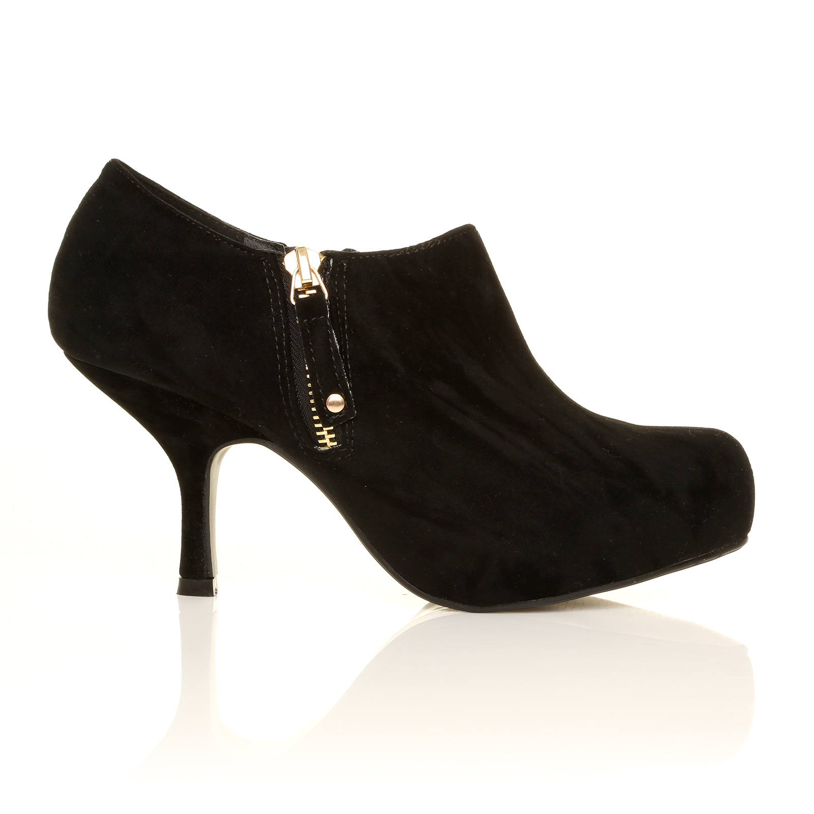 low mid heel concealed platform fashion shoe boots