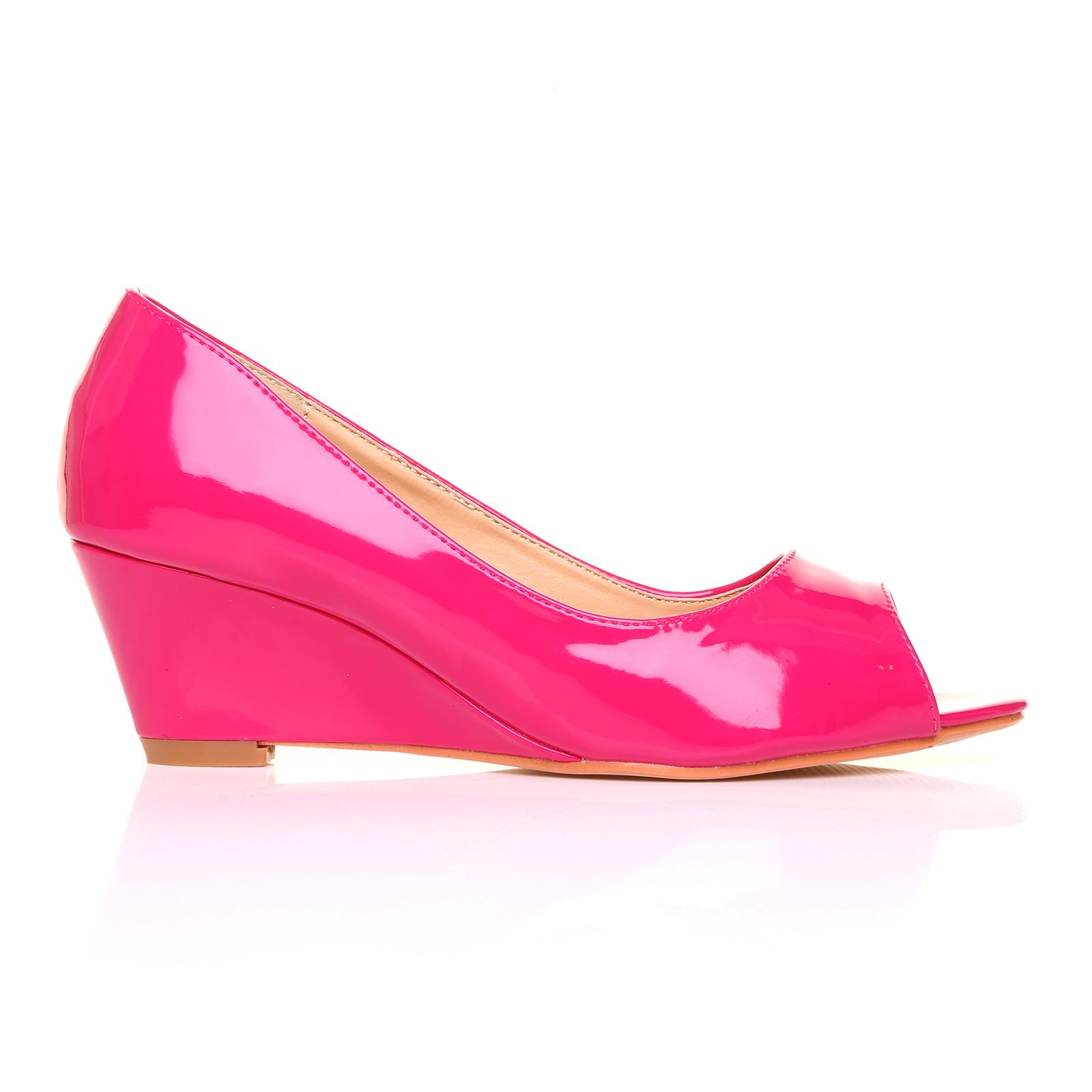 brand new peep toe wedge heel formal smart
