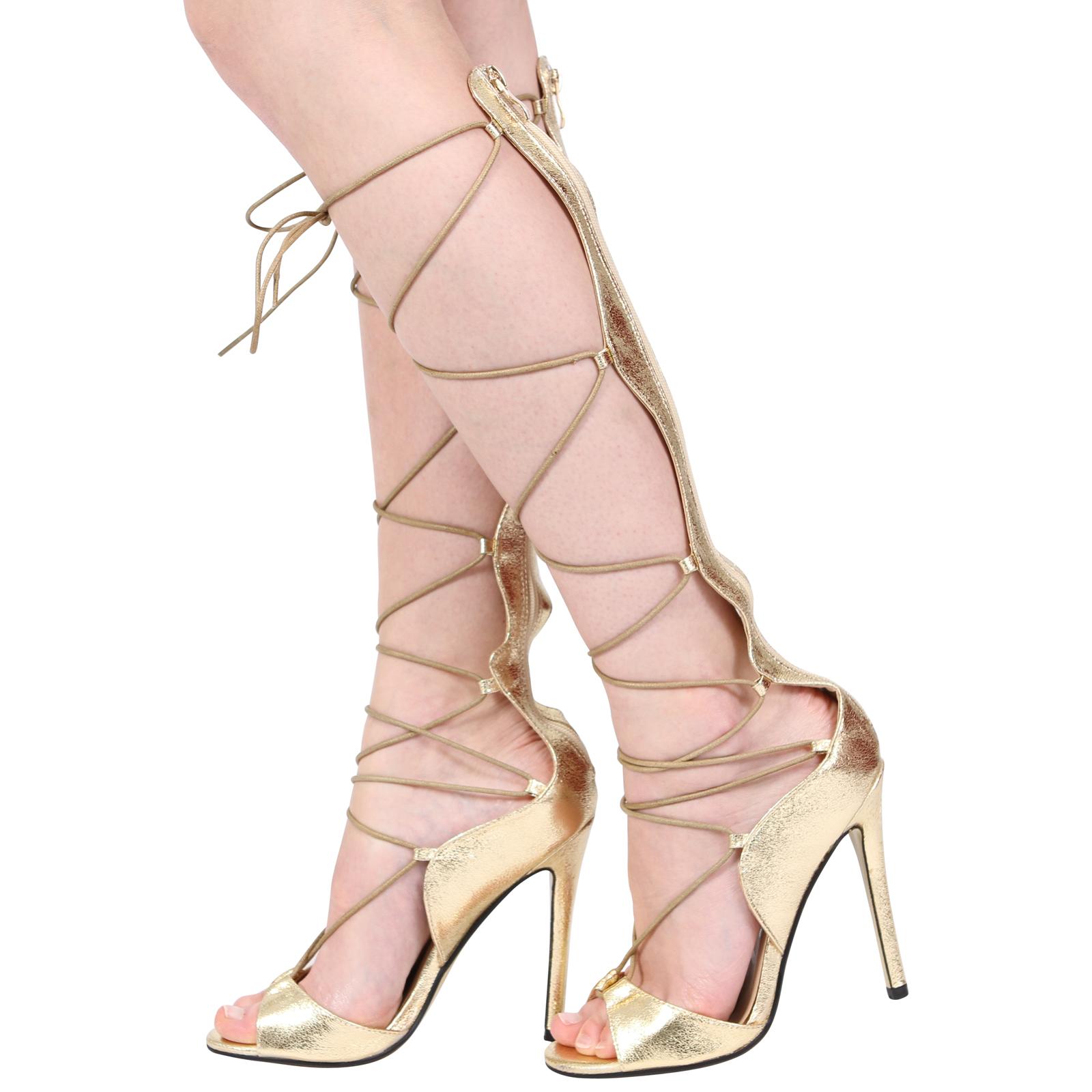 Silver Gladiator High Heels