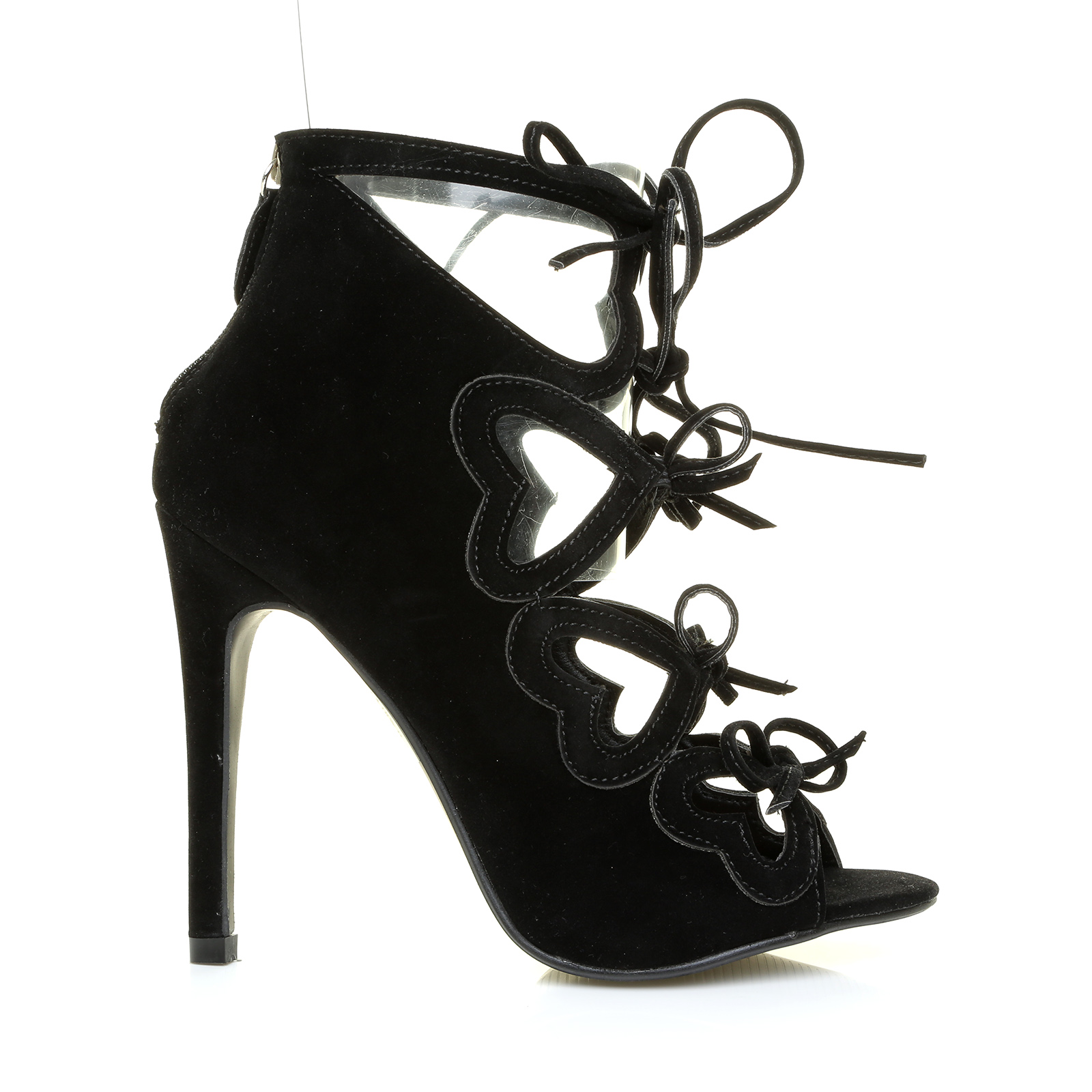 new high stiletto heel cut out lace up open toe