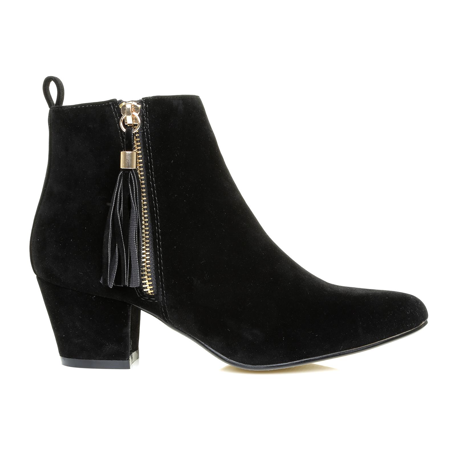 black faux suede tassel ankle boots booties ebay