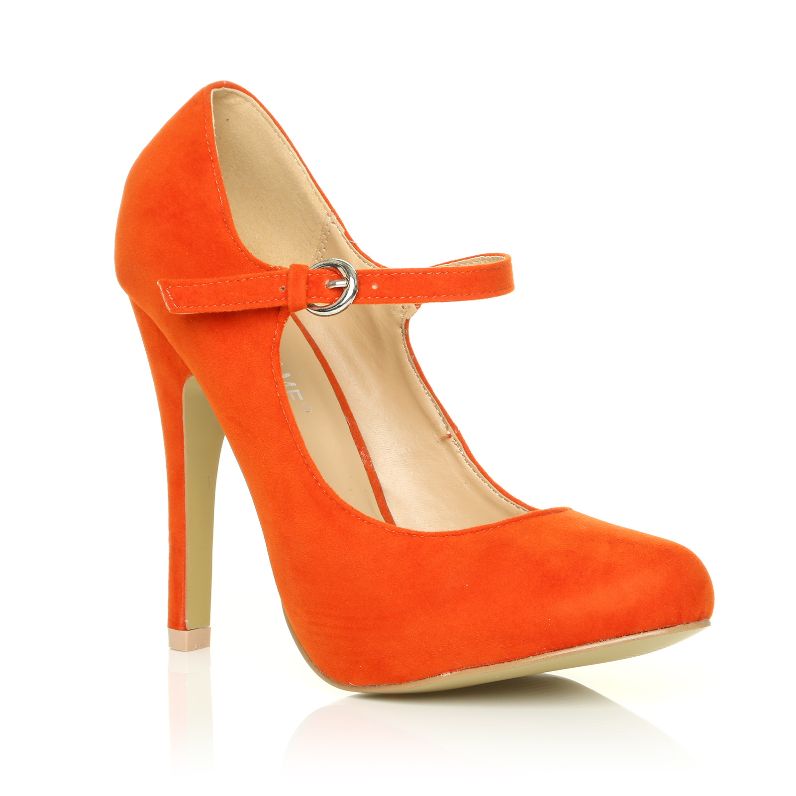 LADIES-WOMEN-MARY-JANE-STYLE-HIGH-STILETTO-HEEL-SUEDE-PATENT-SHOES-SIZE-3-8-NEW
