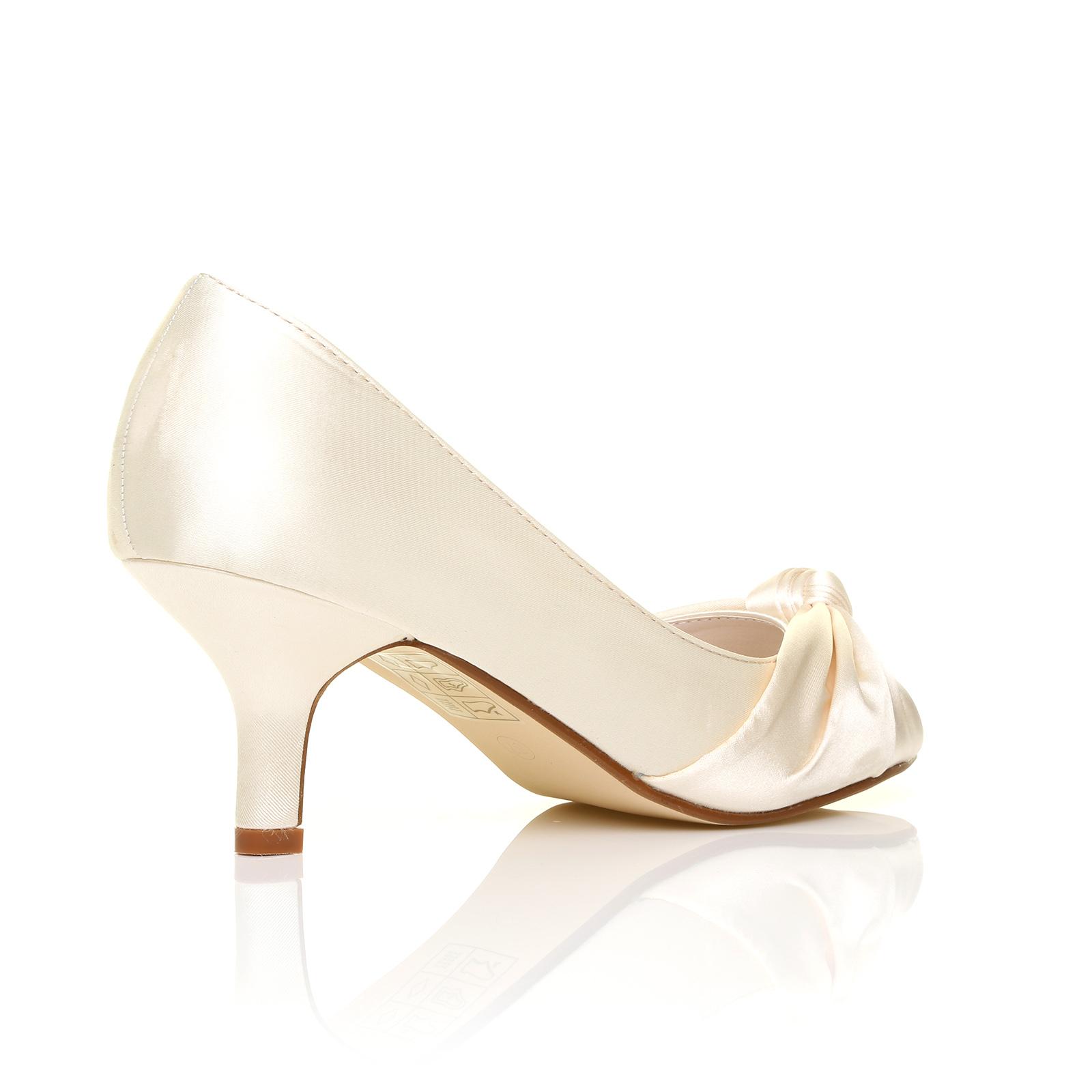 womens wedding bridal prom shoes low heel