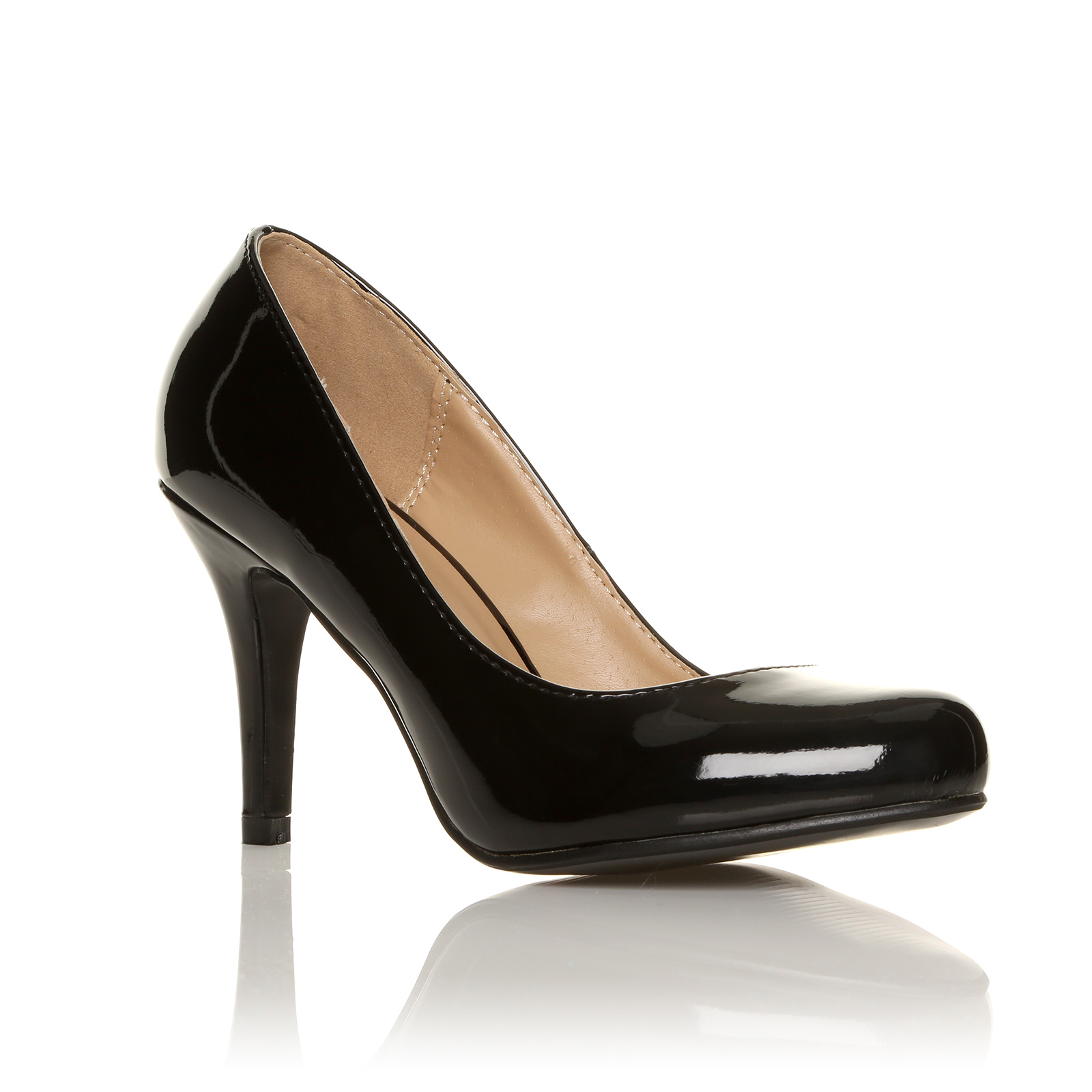 LADIES-COURT-SHOES-WOMENS-OFFICE-SMART-BLACK-PARTY-EVENING-HIGH-HEELS-SHOES-SIZE