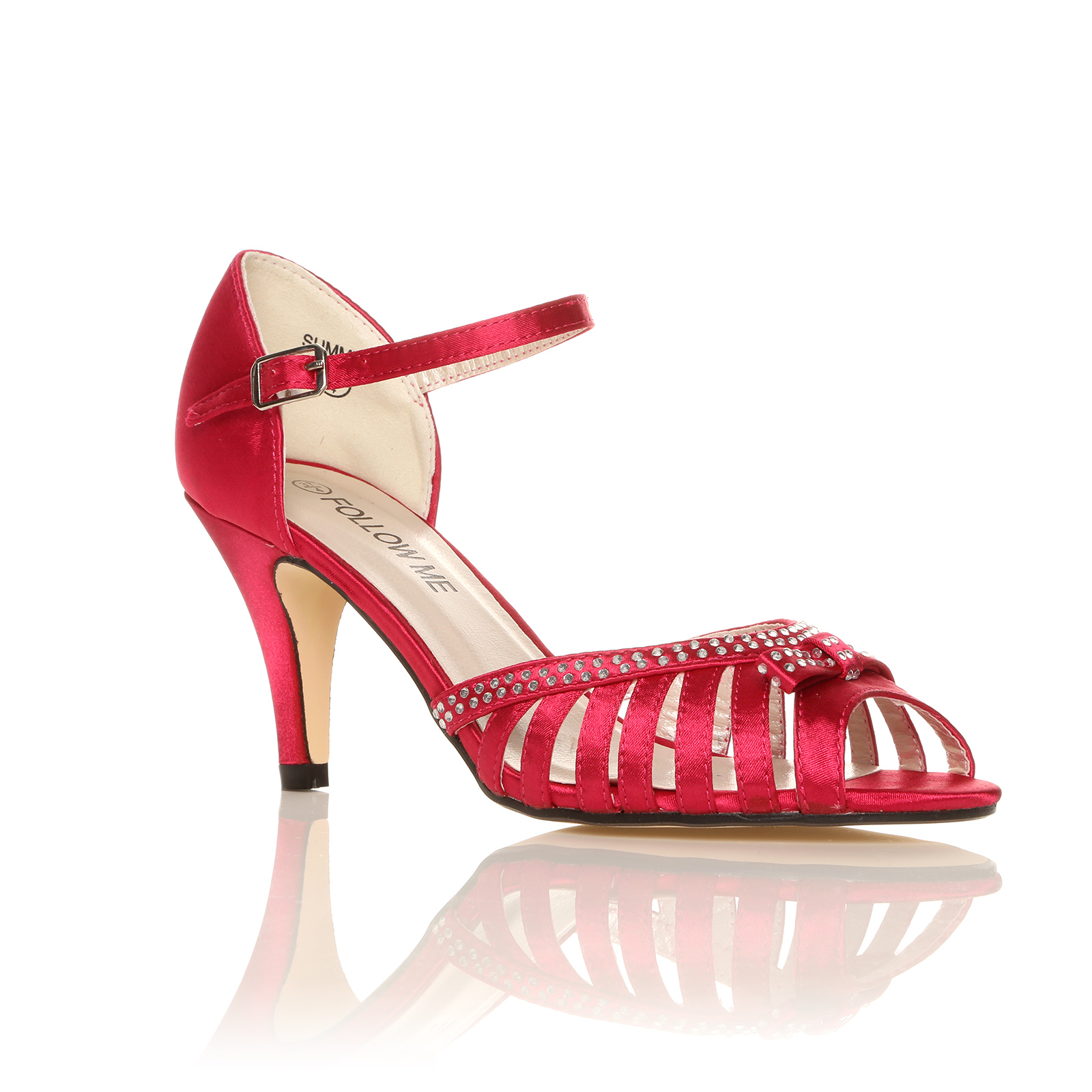 new ankle sandals high heel diamante shoes